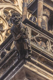 Prague Saint Vitus Cathedral Gargoyle Statues Royalty Free Stock Image