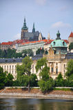 Prague Scene. View of Prague with Castle Royalty Free Stock Photography