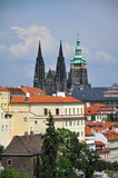 Prague Scene. View of Prague with Prague Castle in the background Stock Image