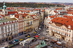 Prague. Scenery at the city square in Prague Royalty Free Stock Photography