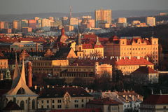 Prague scenery in sunset Royalty Free Stock Image