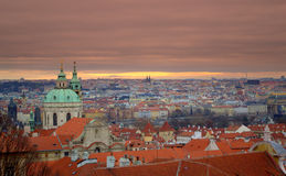Prague scenisk sikt Arkivfoto