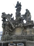 Prague sculpture on Charles Bridge stock photography