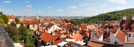 Prague seen from castle Bell Tower Stock Photo