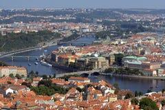 Prague seen from Petřín tower Stock Image