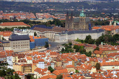 Prague Seen from Petřín tower Royalty Free Stock Photography