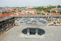 Prague, seen from Vysehrad Stock Photography
