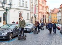 Prague. Segway tour Stock Photo