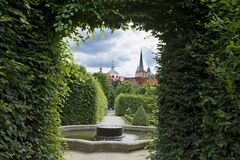 Free Prague Senate. Wallenstein Palace Stands Near The Vltava River In The Northern Part Of The Lesser Country. Alleys Of The Garden Stock Photos - 177642873