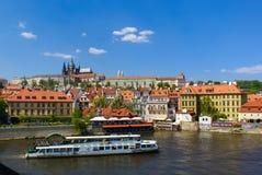 Prague Scenery with Prague Castle Royalty Free Stock Photo