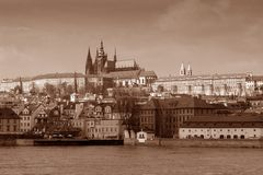 Prague in sepia Stock Image