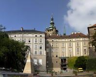 PRAGUE, SEPTEMBER 15: Royal palace residence of the President, back party on September 15, 2014 in Prague, Czech Republic Royalty Free Stock Image