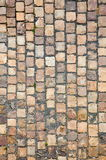Prague sidewalk. Stone design in Prague sidewalk. Background texture Stock Images