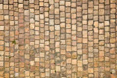 Prague sidewalk. Stone design in Prague sidewalk. Background texture Stock Photography