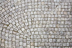 Prague sidewalk. Stone design in Prague sidewalk. Background texture Royalty Free Stock Photography