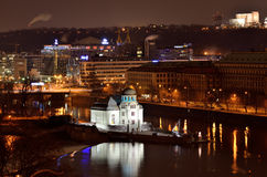 Prague sightseeing attractions by night Stock Image