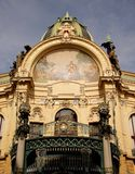 Prague sightseeing: Old municipal house landmark Stock Images