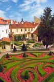Prague sikt från Vrtbovska Zahrada Arkivbild
