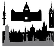 Prague silhouette-4 Royalty Free Stock Photo