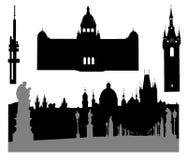 Prague silhouette-4 Royalty Free Stock Photo
