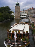 Prague. Sitka Tower, Renaissance tower with a baroc top, Nove Mesto district (New Town Stock Photography