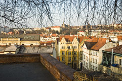 Prague sity. Prague cetral sity view. Day time Stock Photography