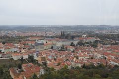 Prague from the Sky stock photography
