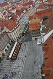 The Prague from the sky, v Stock Image