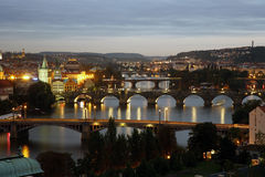Prague Skyline Stock Photography