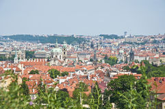Prague skyline as seen from Petrin Hill Royalty Free Stock Photography