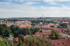 Prague skyline cityscape natural royalty free stock image