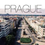 Prague skyline, filtered Stock Images