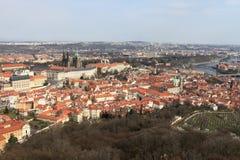 Prague skyline from Petrin hill Stock Photos