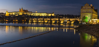 Prague slott Arkivfoton
