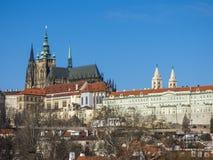 Prague slott och St Vitus Cathedral, Tjeckien Royaltyfri Bild