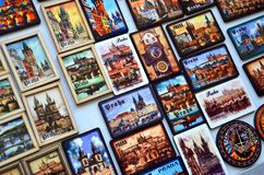 Prague in small pieces, as a background Royalty Free Stock Photography