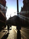 prague soluppgång Arkivbild