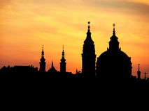 Prague spires Stock Photography