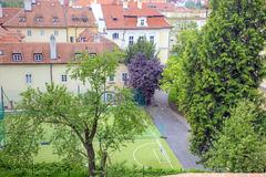 Prague. A sport ground is in old city Royalty Free Stock Images