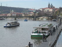 Prague spring. View of the castle. Royalty Free Stock Images