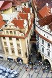 Prague square. A square of prague, czech republic Stock Photo