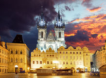 Prague square - Old town, Czech republic Royalty Free Stock Images