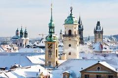 Prague står högt, den gamla staden, Prague (UNESCO), Tjeckien Fotografering för Bildbyråer