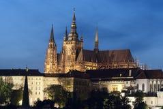 Prague. St.en Vitus Cathedral Arkivfoton