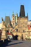 Prague St. Nicholas' Cathedral with Bridge Tower, Czech Republic Stock Photo