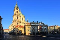 Prague St. Nicholas' Cathedral, Czech Republic Stock Images