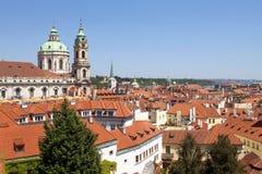 Prague - st. nicholas church Royalty Free Stock Photos