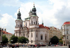 Prague -St. Nicholas Church, Old Town Square royalty free stock photo
