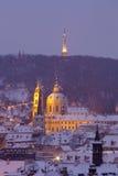 Prague - st. nicolaus church Stock Photos