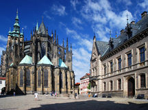 Prague - St. Vitus cathedral. St. Vitus cathedral in Prague Castle.Czech Republic stock image